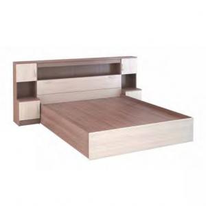 Кровать  со спальным местом 1600×2000 мм с закроватным модулем «Бася КР-552»